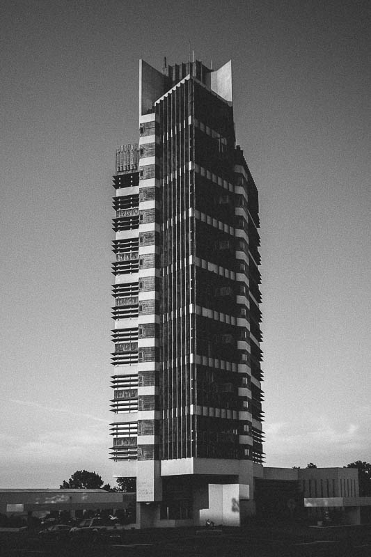 price tower black and white