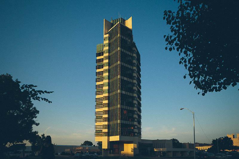 price tower sunset