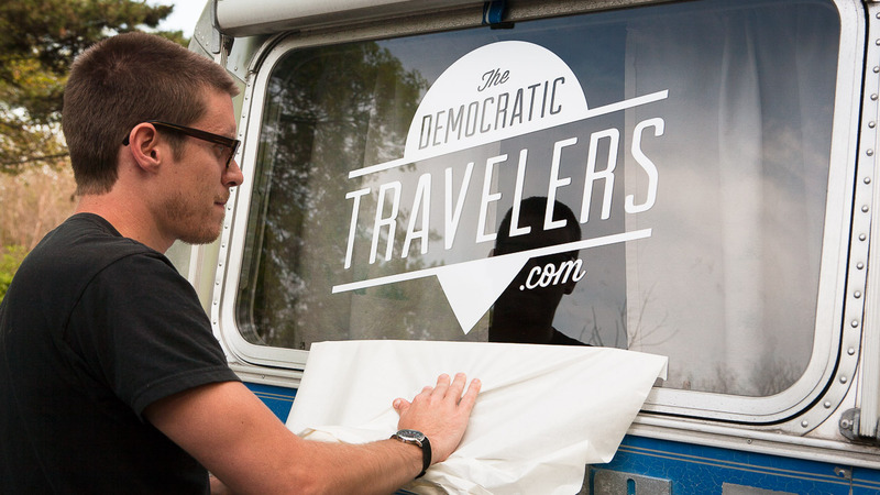 The Democratic Travelers John & Laura set out in Feb 2013 on a year long Airstream adventure – letting their readers decide where they go! The are blog designers.